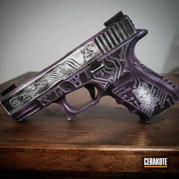 Cerakoted Black Panther Themed Glock In H-136, H-146 And H-197