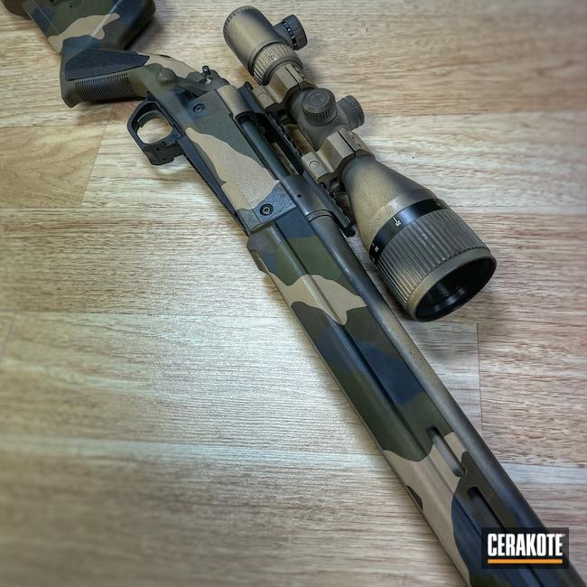 Cerakoted: Rifle,Sniper Grey H-234,Bolt Action,Woodland Camo,Desert Sand H-199,Patriot Brown H-226,O.D. Green H-236,Remington
