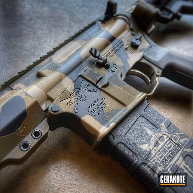Cerakoted: Rifle,Sons of Liberty,Woodland Camo,Desert Sand H-199,Burnt Bronze H-148,Armor Black H-190,.223,COBALT KINETICS™ GREEN H-296