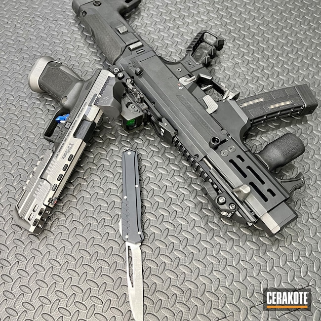 Cerakoted: S.H.O.T,9mm,Scorpion,Tungsten H-237,CZ Scorpion,CZ,SBR