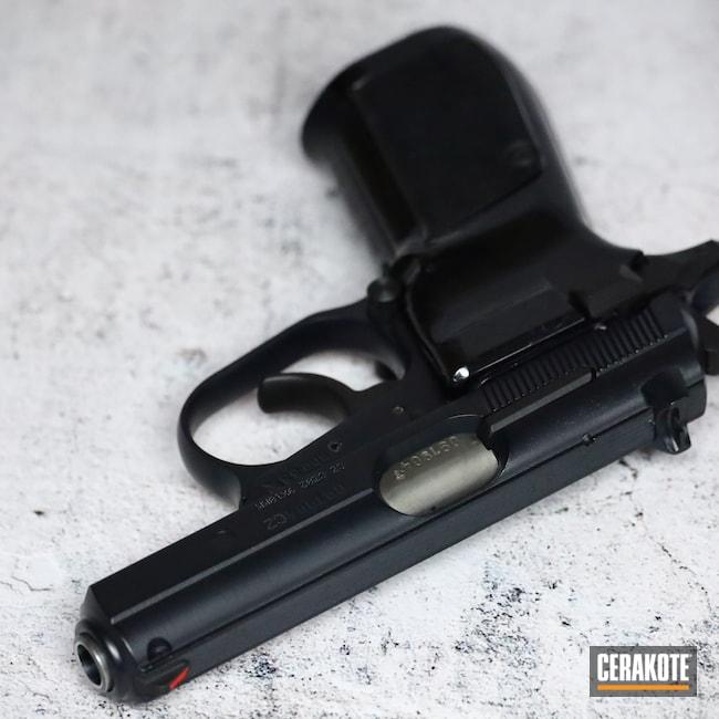 Cerakoted: 9mm,Midnight Blue H-238,82,Graphite Black H-146,CZ,Handgun