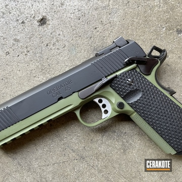 Cerakoted Springfield 1911 In H-146 And H-341