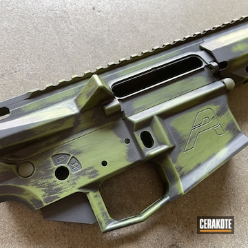 Cerakoted Distressed Ar-15 In H-343 And H-146