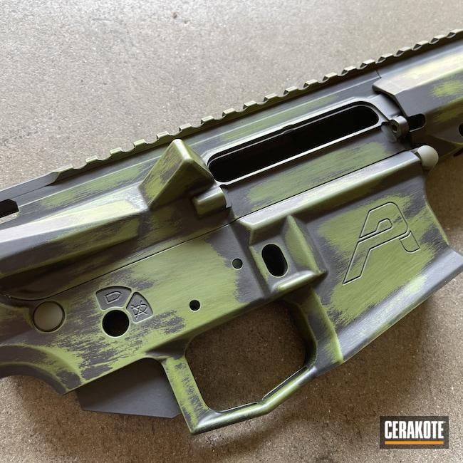 Cerakoted: MULTICAM® BRIGHT GREEN H-343,Distressed AR,Graphite Black H-146,AR,Distressed,.223,AR-15