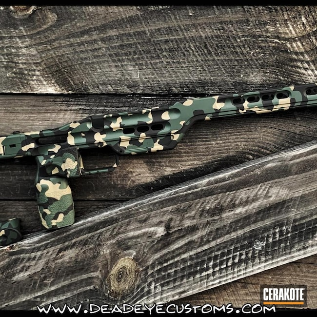 Cerakoted: Highland Green H-200,MPA Chassis,Coyote Tan H-235,Armor Black H-190,Mil Spec Green H-264,Custom Camo,Sky Blue H-169