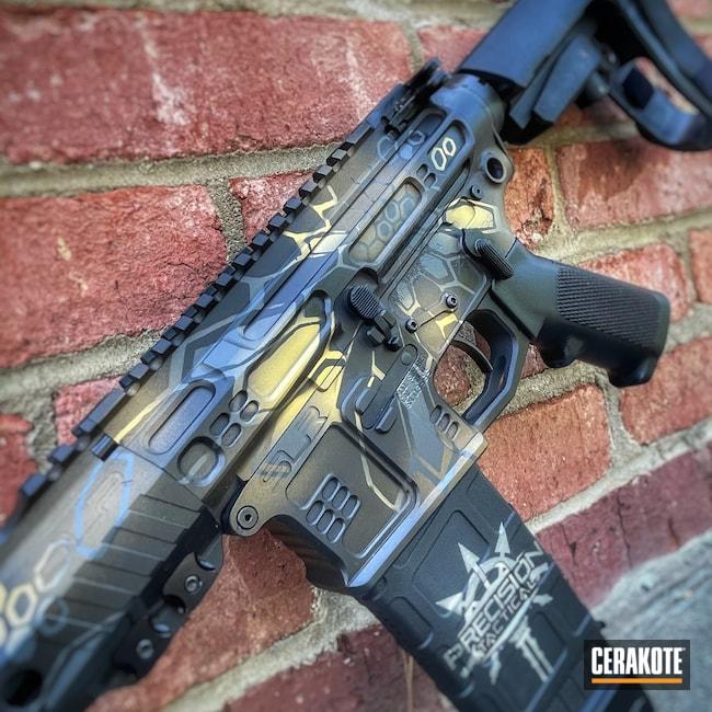 Cerakoted: Sniper Grey H-234,AR Pistol,SLR Rifleworks,Burnt Bronze H-148,Armor Black H-190,.223,AR Build,Gold H-122