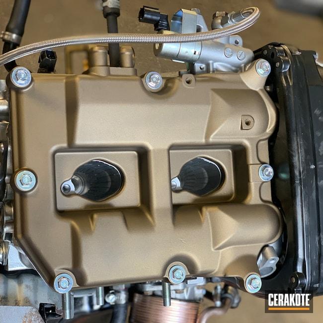 Cerakoted: Subaru,Valve Cover,STI,Burnt Bronze,Burnt Bronze C-148,Automotive