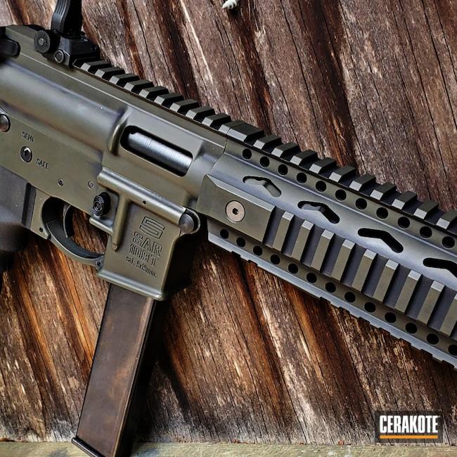 Cerakoted: S.H.O.T,9mm,AR Pistol,Battleworn,Graphite Black H-146,O.D. Green H-236,Sarsilmaz