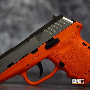 Sccy Cpx-2 Pistol Cerakoted Using Hunter Orange