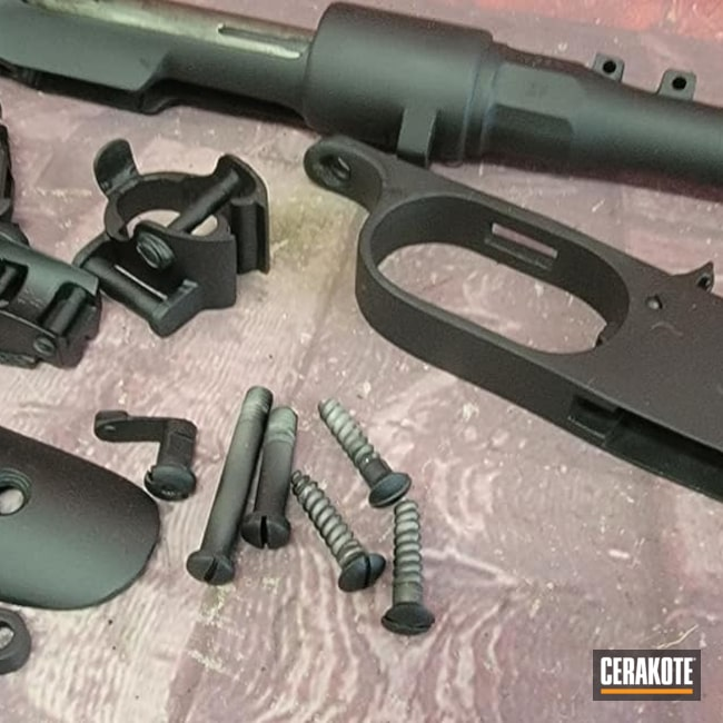 Cerakoted: S.H.O.T,Bolt Action Rifle,Bolt Action,Graphite Black H-146,Carcano,Gun Parts