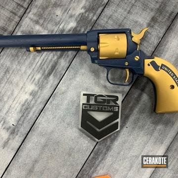 U.s Navy Themed Revolver Cerakoted Using Kel-tec® Navy Blue And Gold