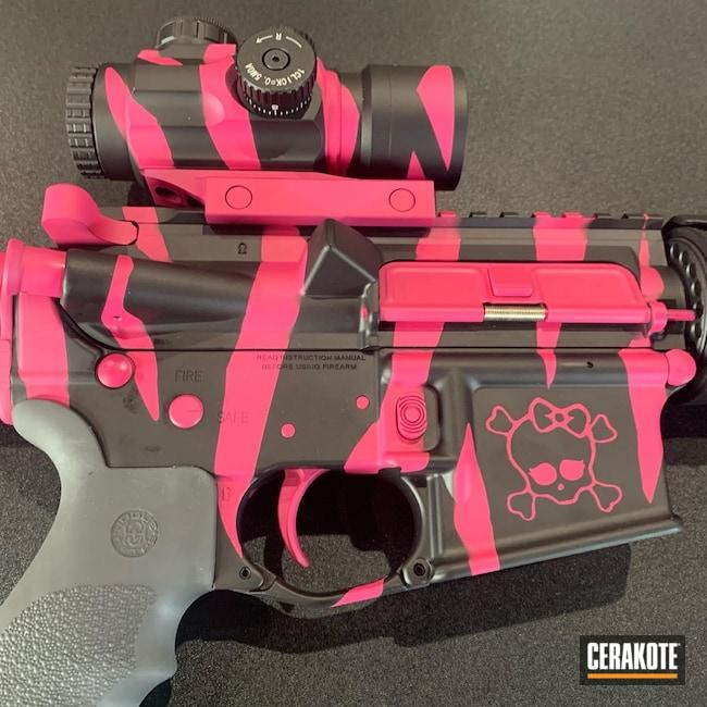 Cerakoted: S.H.O.T,Graphite Black H-146,AR,Pink,SIG™ PINK H-224,AR Rifle,Ladies