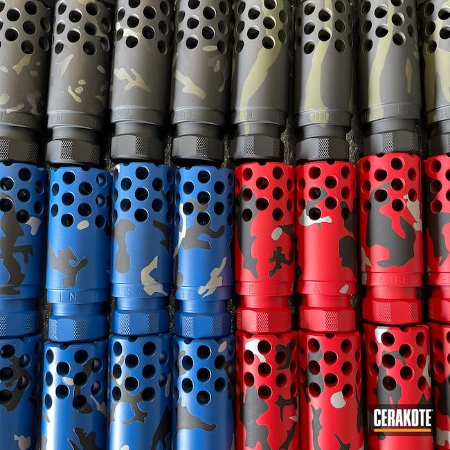 Cerakoted: S.H.O.T,NRA Blue H-171,Graphite Black H-146,Mil Spec O.D. Green H-240,Firearm,USMC Red H-167,Crushed Silver H-255,AR-15