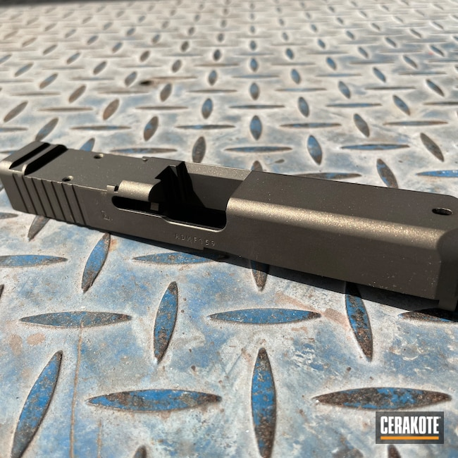 Cerakoted: S.H.O.T,Firearm,Pistol,Glock,Midnight Bronze H-294