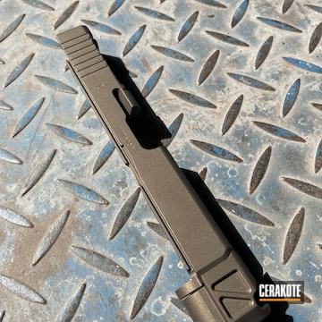 Glock Slide Cerakoted Using Midnight Bronze