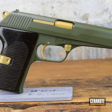 Cz 52 Cerakoted Using O.d. Green And Gold