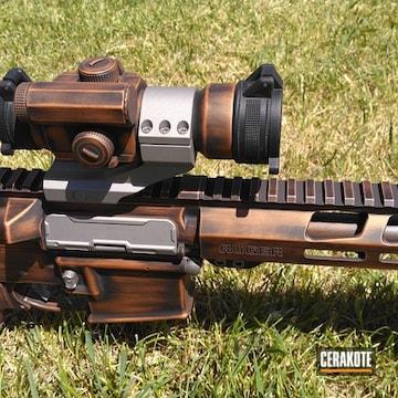 Distressed Ruger Ar Pistol Cerakoted Using Titanium, Graphite Black And Copper