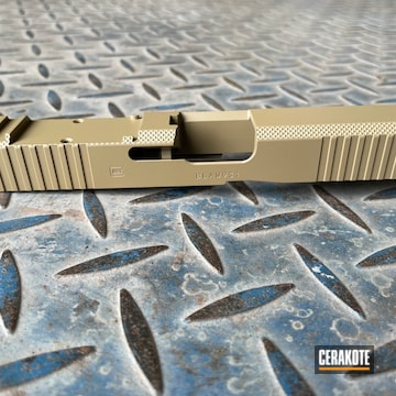 Glock 45 Slide Cerakoted Using Coyote Tan
