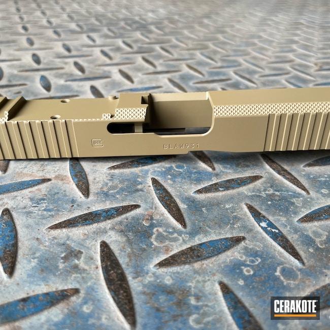 Cerakoted: S.H.O.T,Glock 45,Coyote Tan H-235,Firearm,Pistol,Glock