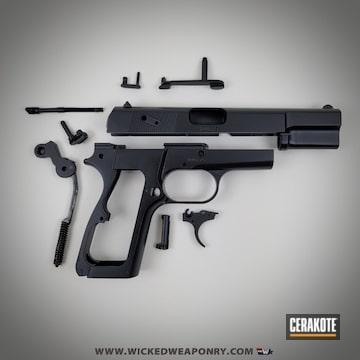 Browning Pistol Cerakoted Using Midnight Blue