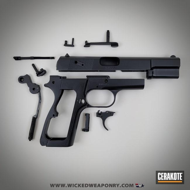 Cerakoted: S.H.O.T,Midnight Blue H-238,Browning,Pistol,Wicked Weaponry,Handgun,HighPower