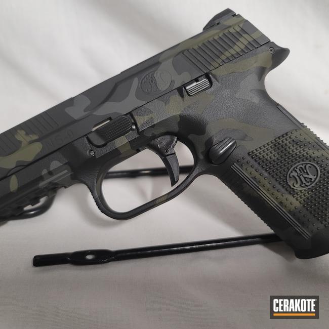 Cerakoted: S.H.O.T,FNS-9,Sniper Green H-229,Graphite Black H-146,FNH,Pistol,SIG™ DARK GREY H-210