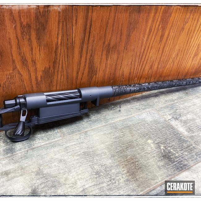 Cerakoted: S.H.O.T,Bolt Action Rifle,Stone Grey H-262,Graphite Black H-146
