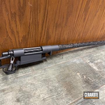 Bolt Action Rifle Cerakoted Using Stone Grey And Graphite Black