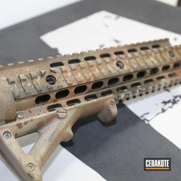 Smith & Wesson M&p15 Cerakoted Using Armor Black, Multicam® Dark Brown And Springfield® Fde