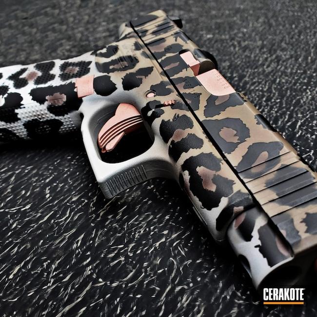 Cerakoted: Glock 48,S.H.O.T,9mm,Leopard Print,MAGPUL® FLAT DARK EARTH H-267,Cheetah Print,Snow White H-136,Graphite Black H-146,Rose Gold,Pistol,ROSE GOLD H-327