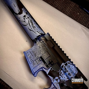 Game Of Thrones Themed Ar Cerakoted Using Armor Black, Frost And Polar Blue