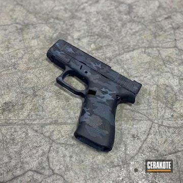 Urban Camo Glock 43x Cerakoted Using Graphite Black, Tungsten And Glock® Grey