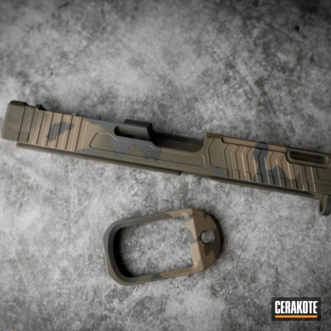Custom Camo Slide Cerakoted Using Armor Black, Sniper Grey And O.d. Green