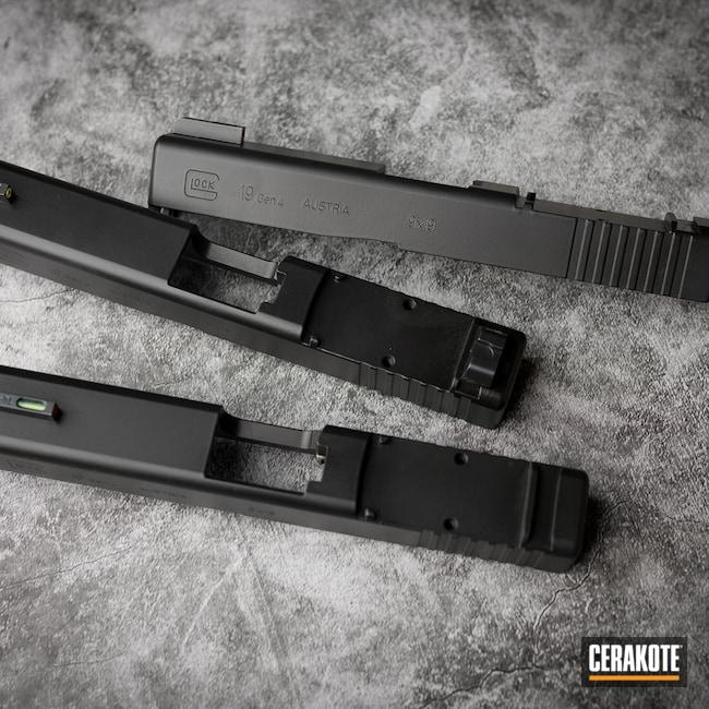 Cerakoted: S.H.O.T,Glock 19,Armor Black H-190,Glock Slides,Slide