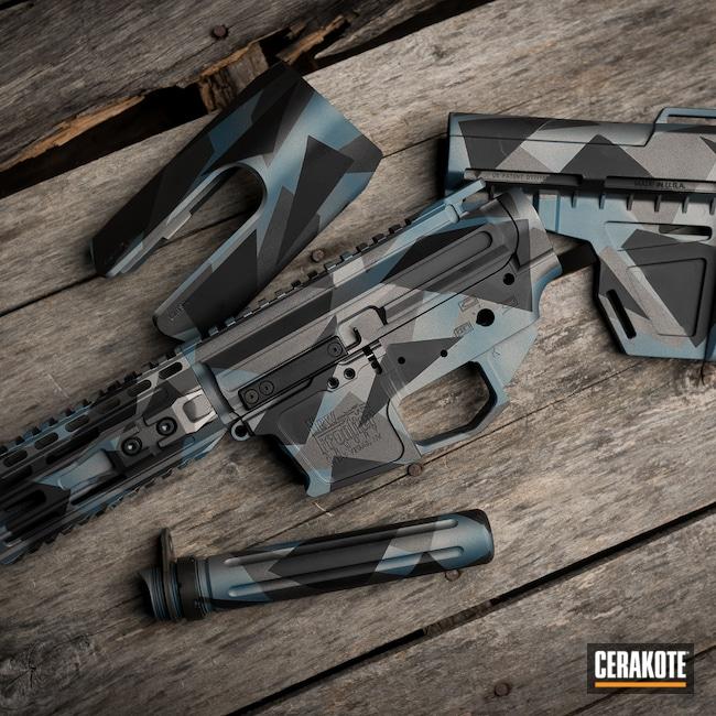 Cerakoted: S.H.O.T,Sniper Grey H-234,Armor Black H-190,Blue Titanium H-185
