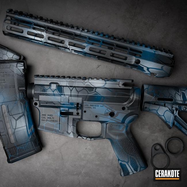 Cerakoted: S.H.O.T,Sniper Grey H-234,BATTLESHIP GREY H-213,Blue Titanium H-185