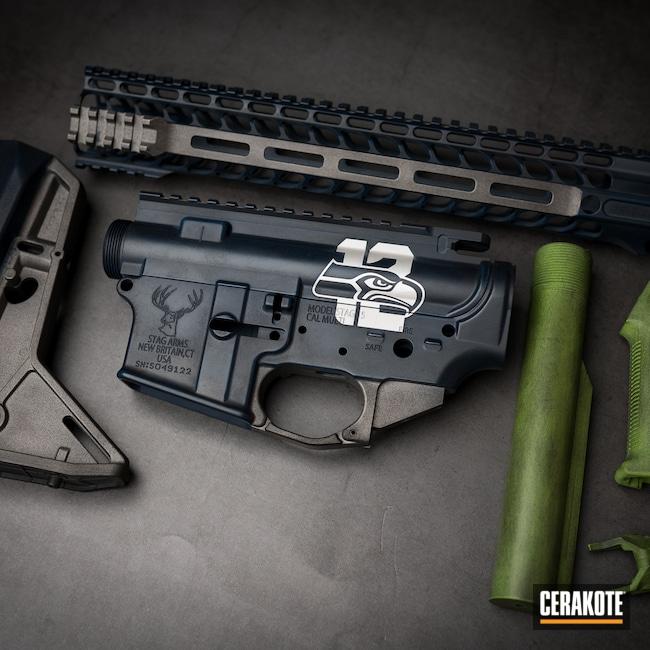 Cerakoted: S.H.O.T,Tungsten H-237,Noveske Bazooka Green H-189,Blue Titanium H-185