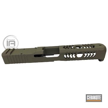 Glock Slide Cerakoted Using Mil Spec O.d. Green