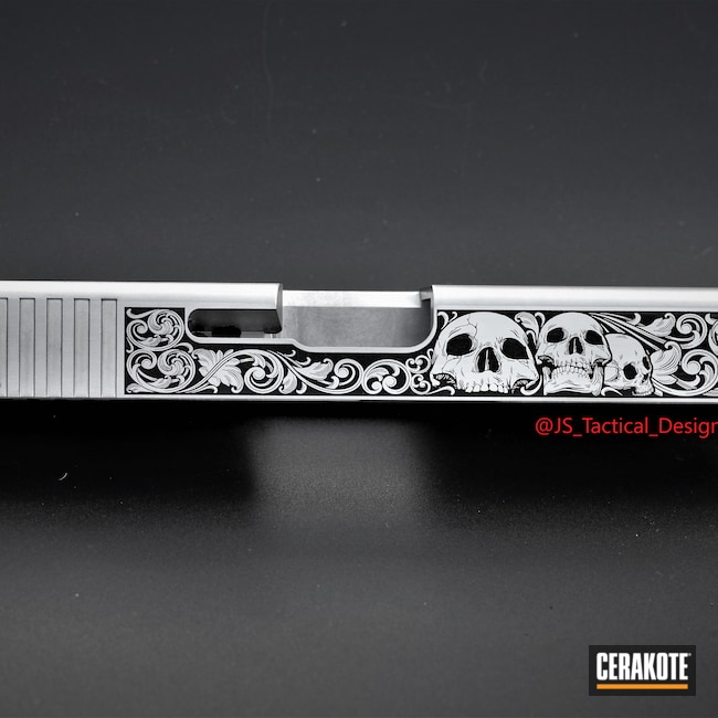 Cerakoted: S.H.O.T,Glock 19,9mm,Engraved,Graphite Black H-146