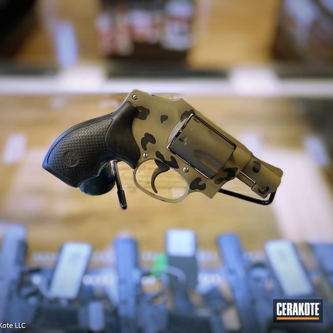 Cerakoted: S.H.O.T,MAGPUL® FLAT DARK EARTH H-267,38 Special,Cheetah Print,Airweight,Graphite Black H-146,Smith & Wesson,Revolver,Patriot Brown H-226,Pistol,Cheetah