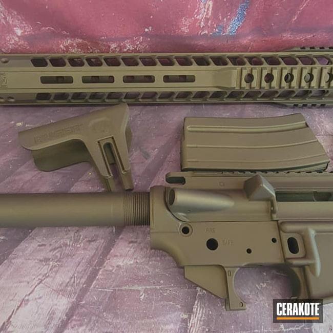 Cerakoted: S.H.O.T,Ruger,Lower,Burnt Bronze,Handguard,Burnt Bronze H-148,Tactical Rifle,Gun Parts,AR Upper