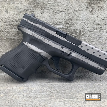 American Flag Themed Glock 27 Cerakoted Using Savage® Stainless And Graphite Black