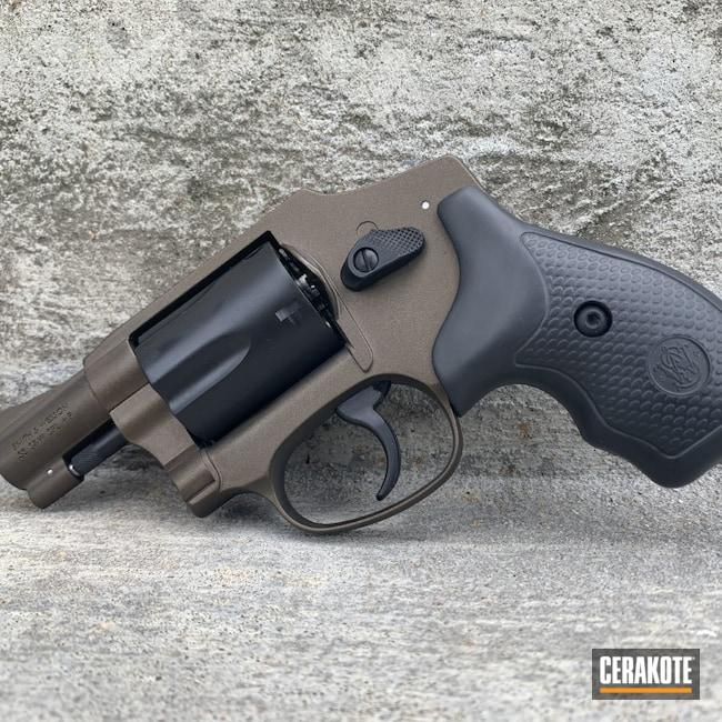Cerakoted: S.H.O.T,Graphite Black H-146,Revolver,Midnight Bronze H-294,.38