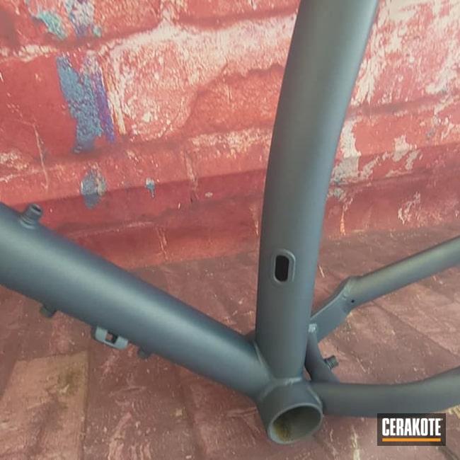 Cerakoted: S.H.O.T,Bike Frame,Bicycle Frame,Blue Titanium C-189,Bicycle,Bike,Bike Fork