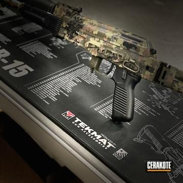 Custom Camo Ak-47 Cerakoted Using Multicam® Pale Green, Sniper Grey And Graphite Black