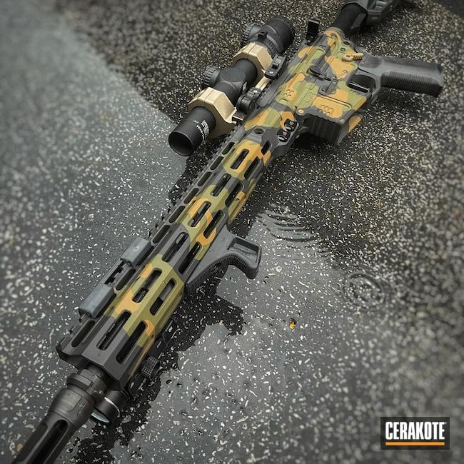 Cerakoted: S.H.O.T,Rifle,SLR Rifleworks,Mil Spec O.D. Green H-240,Camo,B-15,Armor Black H-190,GLOCK® FDE H-261