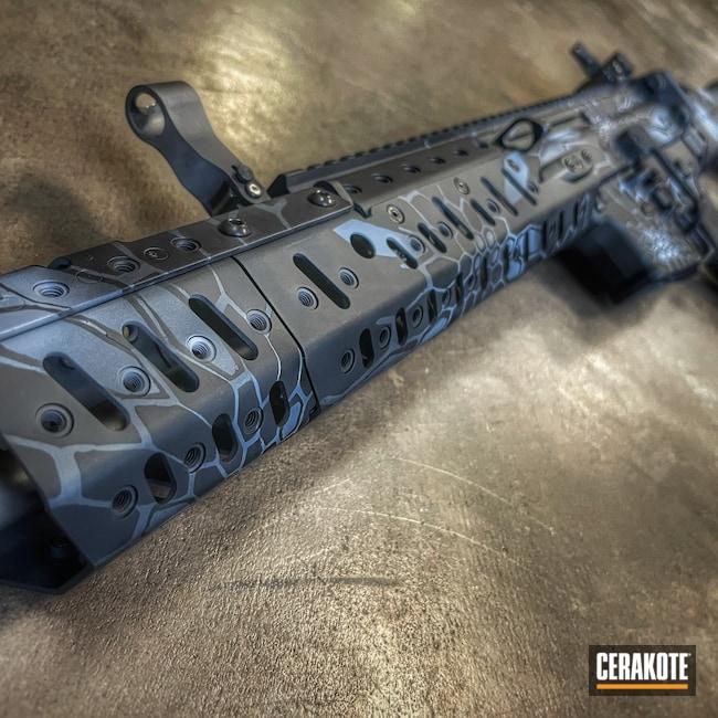 Cerakoted: S.H.O.T,Rifle,Sniper Grey H-234,Kryptek,FN Scar,Armor Black H-190,PLATINUM GREY H-337,FN