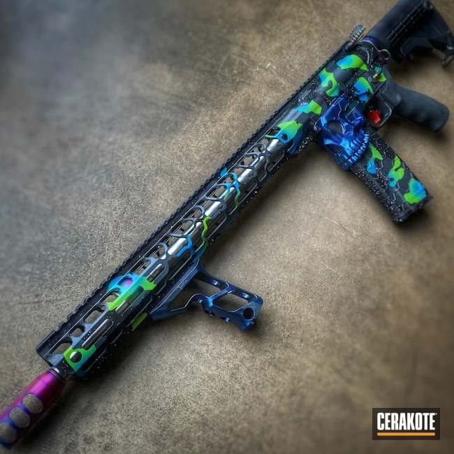 Cerakoted: S.H.O.T,Rifle,Sniper Grey H-234,NRA Blue H-171,Neon,Zombie Green H-168,Stormtrooper White H-297,Space,Armor Black H-190,Spikes,Jack