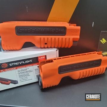Flashlight Cerakoted Using Hi-vis Orange