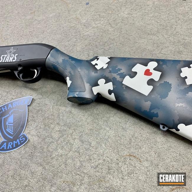 Cerakoted: S.H.O.T,Shotgun,Stormtrooper White H-297,USMC Red H-167,Titanium H-170,Beretta,Cobalt H-112,A300,Blue Titanium H-185